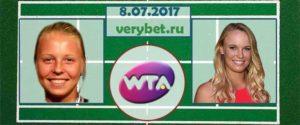 Прогноз на матч Контавейт - Возняцки 8 июля