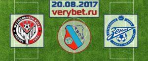 Амкар - Зенит 20 августа прогноз