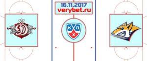 Динамо Рига - Металлург Магнитогорск 16 ноября 2017 прогноз