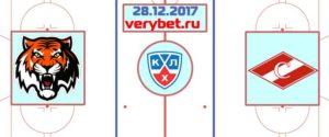 Амур - Спартак Москва 28 декабря 2017 прогноз