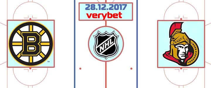 Бостон - Оттава 28 декабря 2017 прогноз