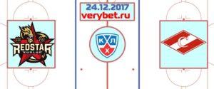 Куньлунь РС - Спартак Москва 24 декабря 2017 прогноз