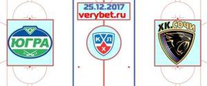 Югра - ХК Сочи 25 декабря 2017 прогноз