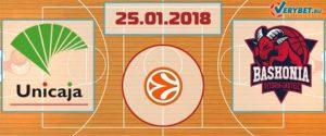 Уникаха – Баскония 25 января 2018 прогноз