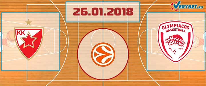 Црвена Звезда – Олимпиакос 26 января 2018 прогноз