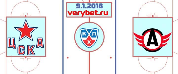 ЦСКА - Автомобилист 9 января 2018 прогноз