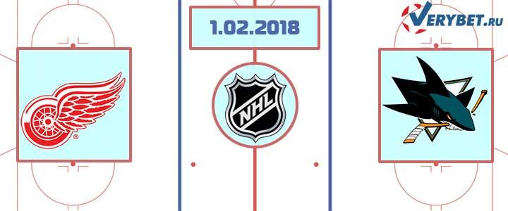 Детройт - Сан-Хосе 1 февраля 2018 прогноз