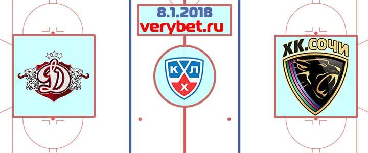 Динамо Рига - ХК Сочи 8 января 2018 прогноз