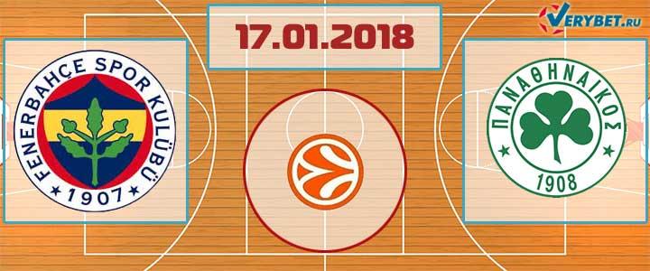 Фенербахче – Панатинаикос 17 января 2018 прогноз