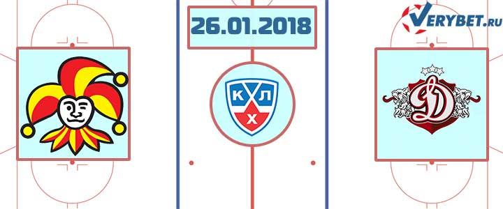 Йокерит - Динамо Рига 26 января 2018 прогноз
