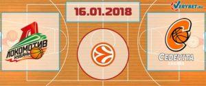 Локомотив-Кубань – Цедевита 16 января 2018 прогноз