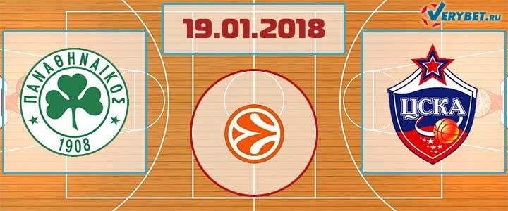 Панатинаикос – ЦСКА 19 января 2018 прогноз
