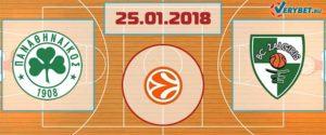 Панатинаикос – Жальгирис 25 января 2018 прогноз