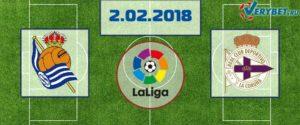 Реал-Сосьедад - Депортиво 2 февраля 2018 прогноз