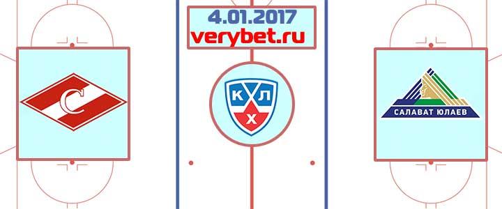 Спартак - Салават Юлаев 4 января 2017 прогноз
