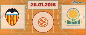 Валенсия – Химки 26 января 2018 прогноз
