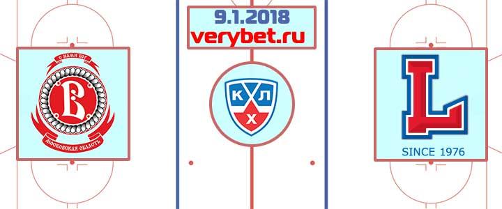 Витязь - Лада 9 января 2018 прогноз