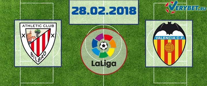 Атлетик - Валенсия 28 февраля 2018 прогноз