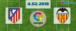 Атлетико - Валенсия 4 февраля 2018 прогноз