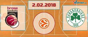 Брозе – Панатинаикос 2 февраля 2018 прогноз