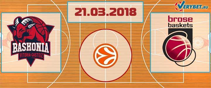 Баскония – Бамберг 21 марта 2018 прогноз