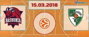 Баскония – Жальгирис 15 марта 2018 прогноз
