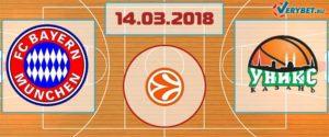 Бавария – УНИКС 14 марта 2018 прогноз