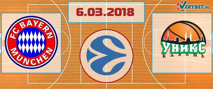 Бавария – УНИКС 6 марта 2018 прогноз
