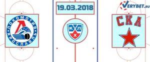 Локомотив – СКА 19 марта 2018 прогноз