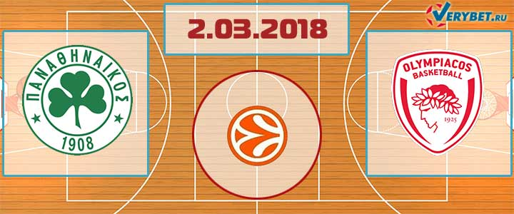 Панатинаикос – Олимпиакос 2 марта 2018 прогноз