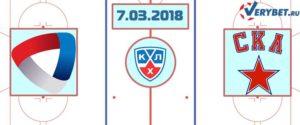 Северсталь – СКА 7 марта 2018 прогноз