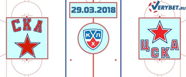 СКА – ЦСКА 29 марта 2018 прогноз