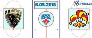 ХК Сочи – Йокерит 6 марта 2018 прогноз