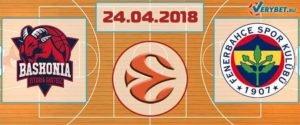 Баскония – Фенербахче 24 апреля 2018 прогноз