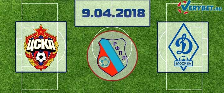 ЦСКА – Динамо 9 апреля 2018 прогноз