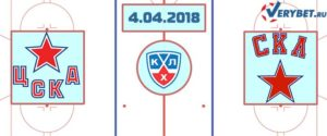 ЦСКА – СКА 4 апреля 2018 прогноз
