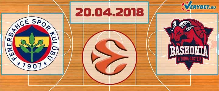 Фенербахче – Баскония 20 апреля 2018 прогноз