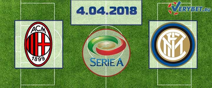 Милан – Интер 4 апреля 2018 прогноз