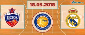 ЦСКА – Реал Мадрид 18 мая 2018 прогноз