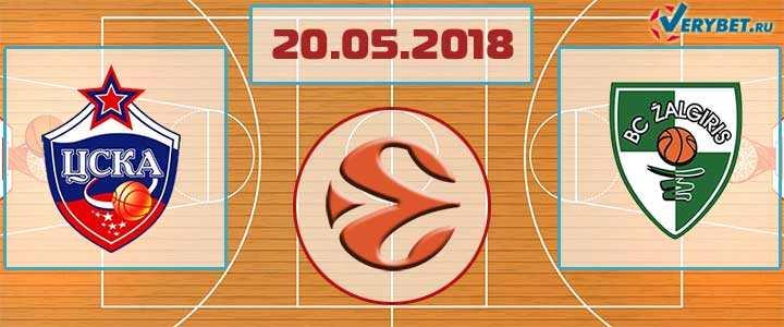 ЦСКА – Жальгирис 20 мая 2018 прогноз