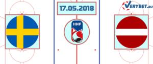 Швеция – Латвия 17 мая 2018 прогноз