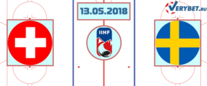 Швейцария – Швеция 13 мая 2018 прогноз