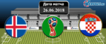 Исландия – Хорватия 26 июня 2018 прогноз