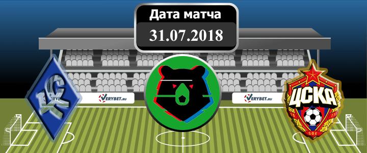 Крылья Советов - ЦСКА 31 июля 2018 прогноз