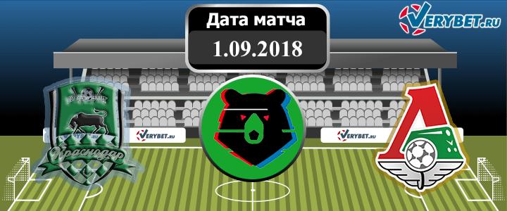 Краснодар – Локомотив 1 сентября 2018 прогноз