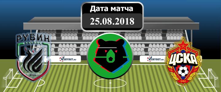 Рубин – ЦСКА 25 августа 2018 прогноз