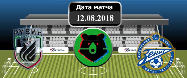 Рубин - Зенит 12 августа 2018 прогноз