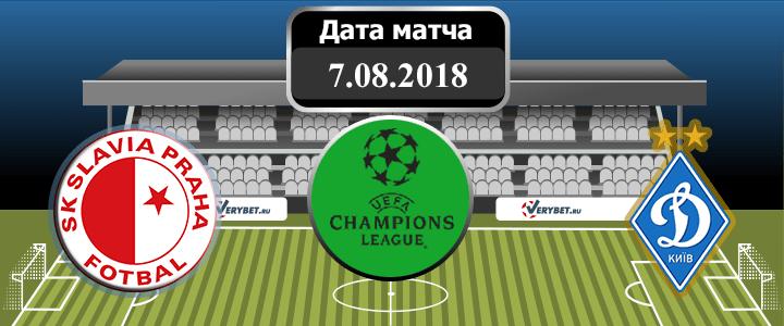Славия Прага - Динамо Киев 7 августа 2018 прогноз