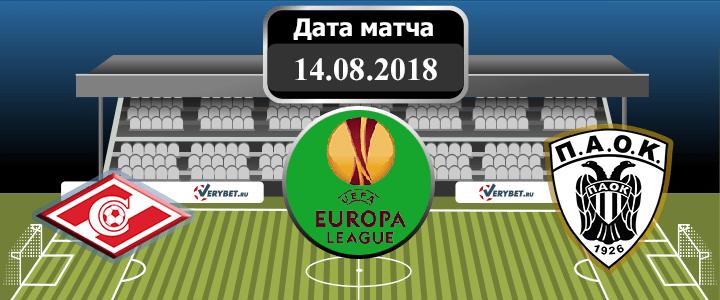 Спартак – ПАОК 14 августа 2018 прогноз