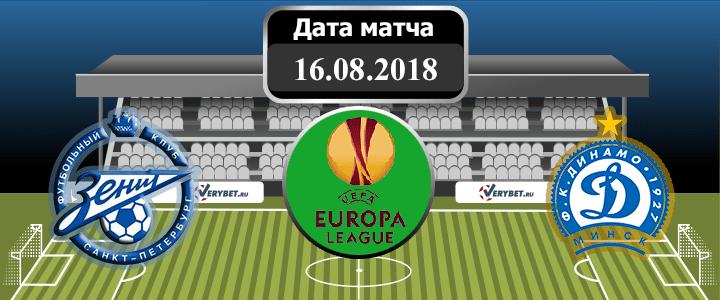 Зенит – Динамо Минск 16 августа 2018 прогноз